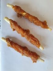 Lollipops mit Putenfleisch