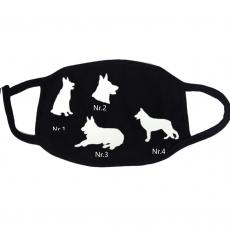 Mund Nasenbedeckung -  Schäferhund mit Namen
